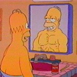 Mirror Homer Muscles Fat
