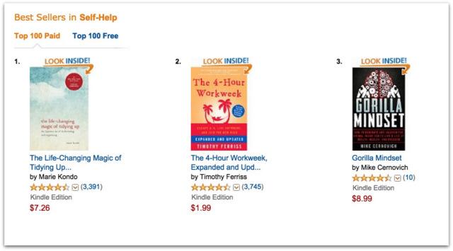 Gorilla Mindset best seller self help.10 AM